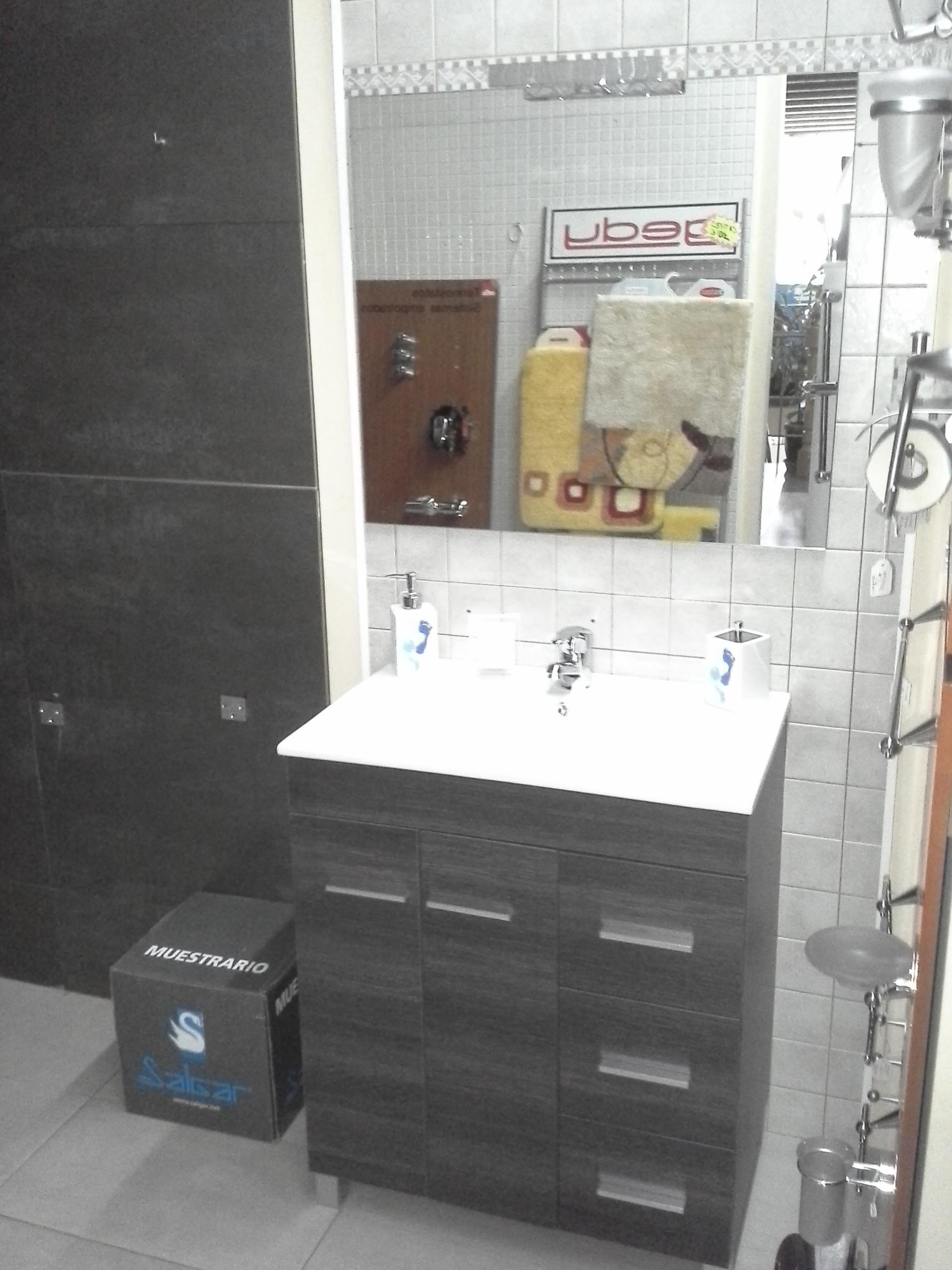 Mueble baño,Lavabo y Espejo,Aplique